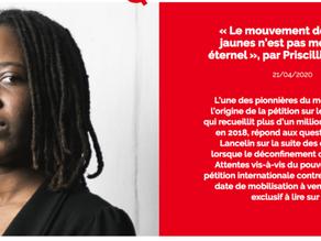 Entretien avec Aude Lancelin : « Le mouvement des Gilets jaunes n'est pas mort, il est éternel »