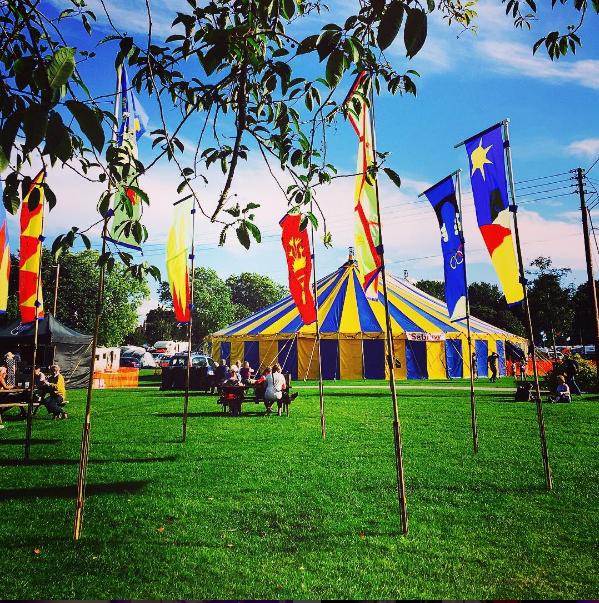 MC at Shrewsbury folk festival