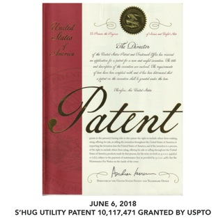 S'HUG UTILITY PATENT GRANTED BY USPTO