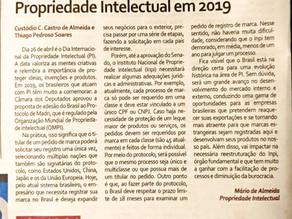 Jornal do Comércio: O que o Brasil pode ganhar em Propriedade Intelectual em 2019
