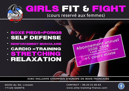 Abonnement annuel GIRL FIT & FIGHT