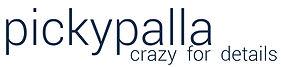 Schriftzug pickypalla blau