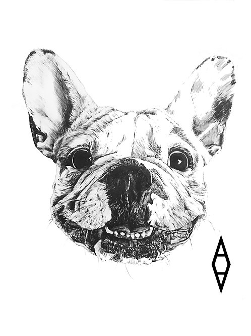 Smiling Frenchie Tee