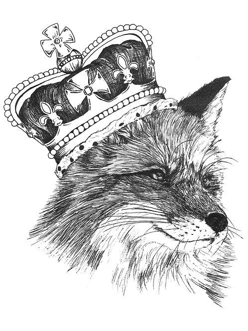 Fox crown Print