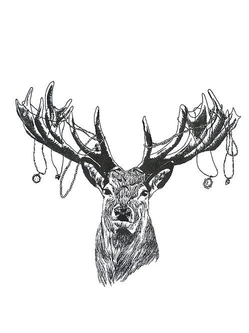 Reindeer necklaces Print