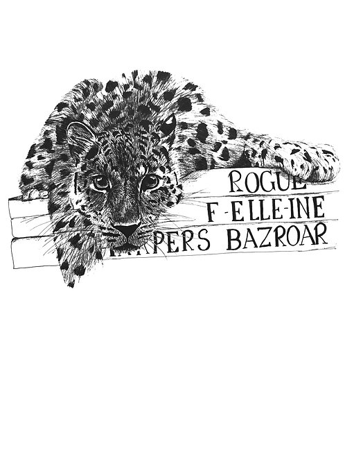 Leopard fashion mag Print
