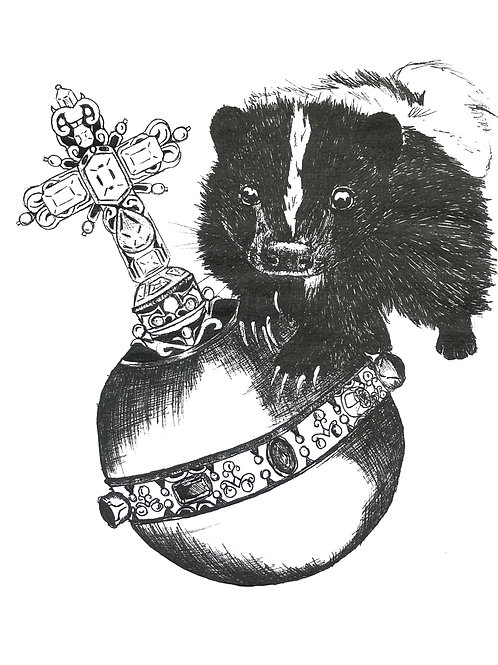 Skunk royal ball Print