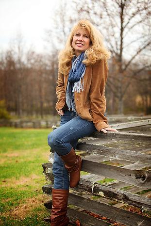 HI res joy blue scard brown jacket jeans