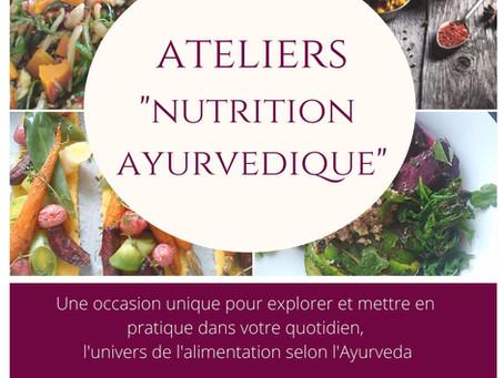 La nutrition ayurvédique en 4 ateliers !