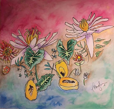 Hawaii original watercolor by Christi-Anne Plough