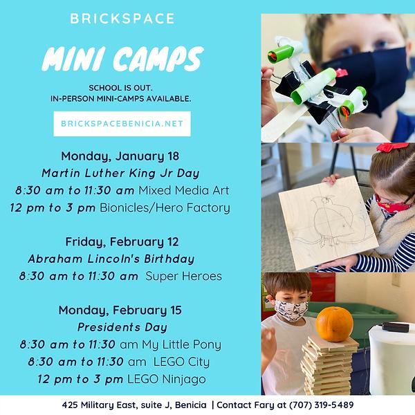 Brickspace Mini Camps - Jan Feb - Instag