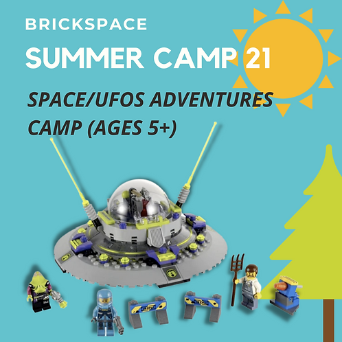 Space/UFOs Adventures Camp (Ages 5+)  JULY 26 - 30, 12:30-3:30pm