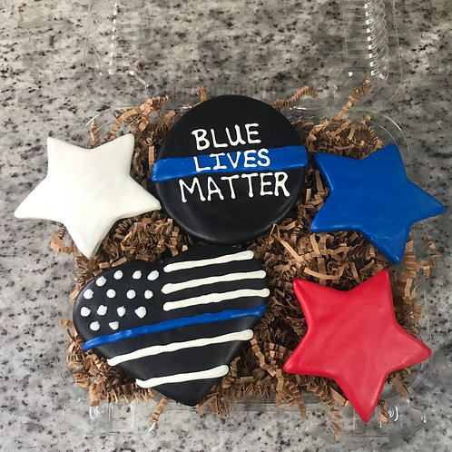 Blue Lives Matter Treat Box Custom - Grain free