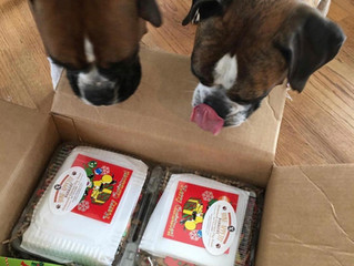 """Martha and Molly got a special package from """"Santa"""" they are two perfect girls"""