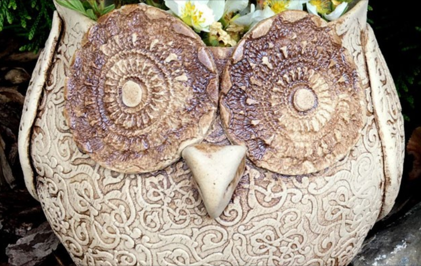 Make a Ceramic Owl Decorative Pot