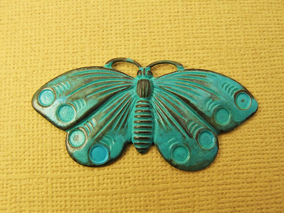 Aged Teal Butterfly Charm - 1 Piece