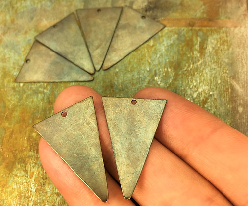 brass triangle charms for boho earrings stamping blanks
