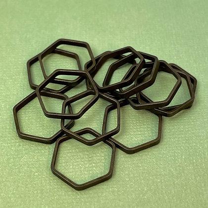 Antiqued hexagon links