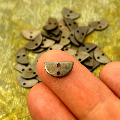 Antiqued brass half moon connector charms