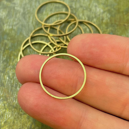 raw brass 18mm rings for jewelry making