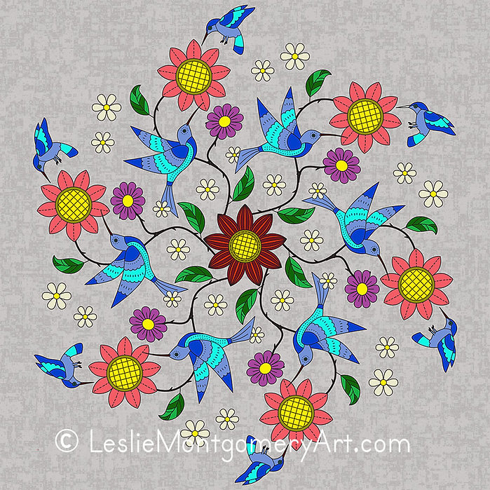'Blue Hummer Mandala - Single' by Leslie Montgomery