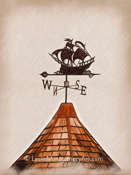 'High Seas Clipper Weather Vane' by Leslie Montgomery
