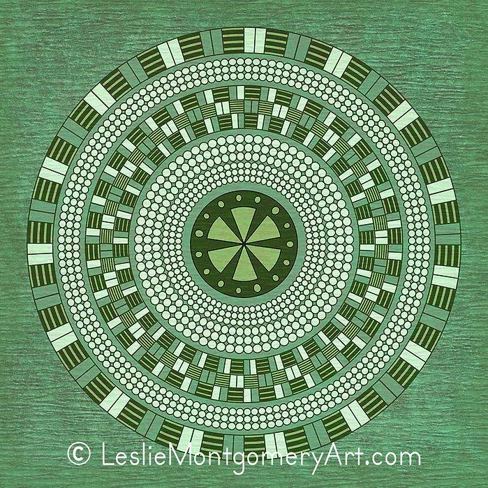 'Target Practice Mandala - Solid' by Leslie Montgomery