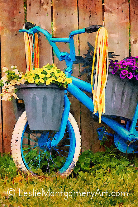 'Garden Bike - Front End' by Leslie Montgomery
