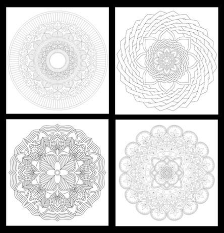 4 New Free Mandala