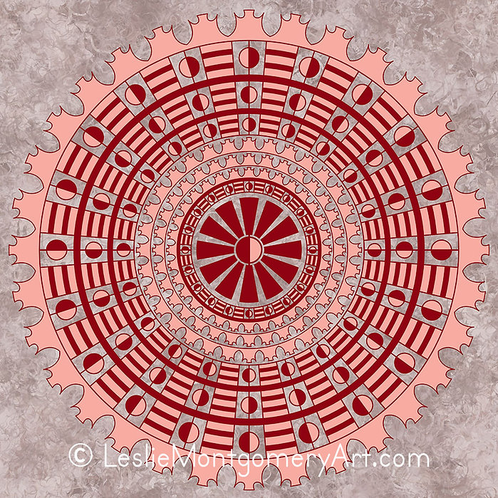 'Orbiting The Sun Mandala' by Leslie Montgomery