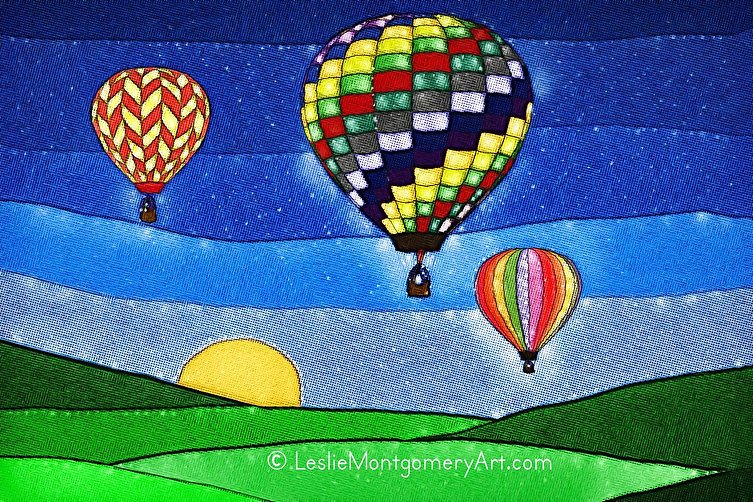 'Up Up And Away' by Leslie Montgomery