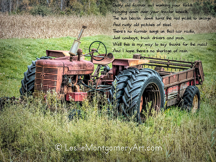 'Rusty Old Patches Of Steel - Lyrics' by Leslie Montgomery