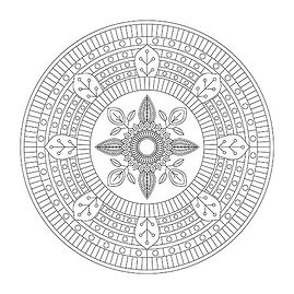 004 Mandala Coloring Page
