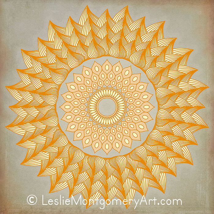 'Burning Ring Of Fire Mandala' by Leslie Montygomery