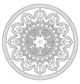 001 Mandala Coloring Page