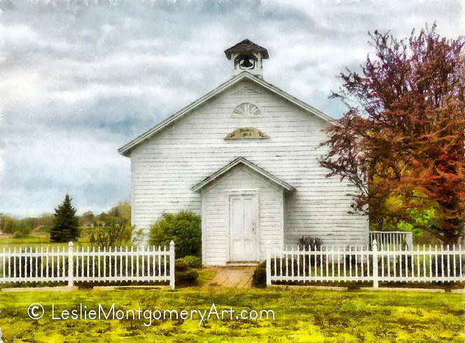 'Old School House' by Leslie Montgomery