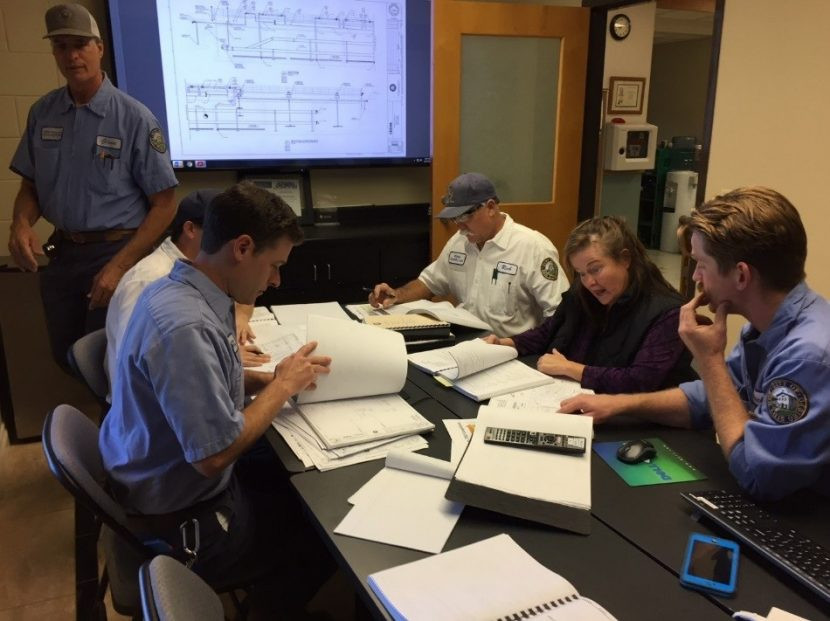 Staff at the Water Resource Recovery Facility immersed themselves in reviewing over 8,000 pages of design documents.