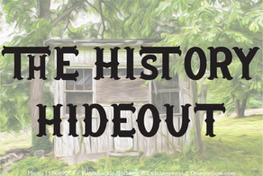 """Check out our new newsletter """"The History Hideout"""" (PDF)"""