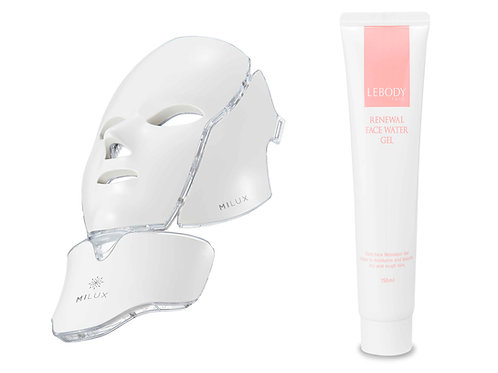 MILUX LED Mask + Renewal Face Water Gel + Stand