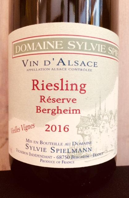 Riesling Vieilles Vignes, Sylvie Spielmann