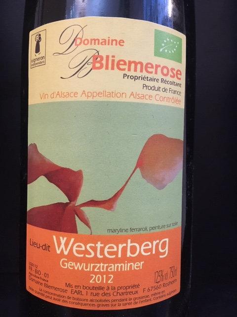 Gewurtztraminer Westerberg, Domaine Bliemerose