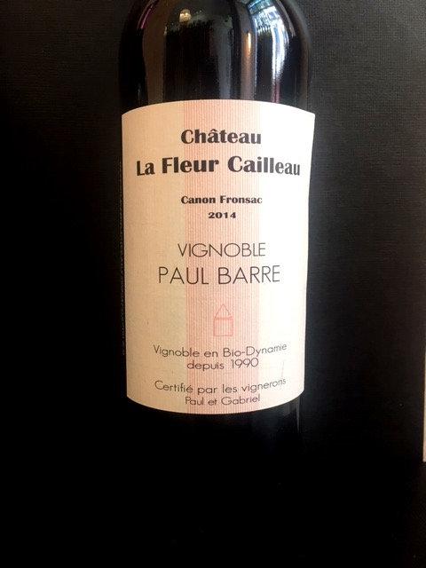 Domaine Paul Barre, La Fleur Cailleau, Canon Fronsac