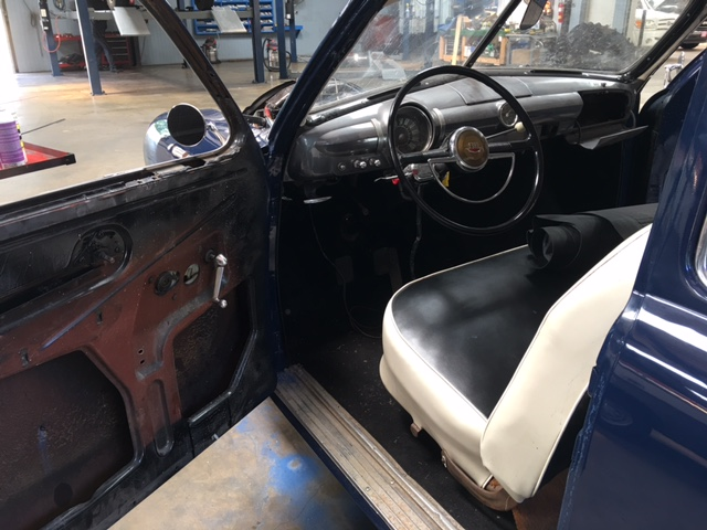 Interior restoration underway