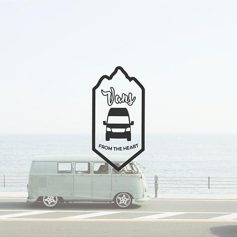 modern Logo Design Van Vanlife Buslife Camping Camper Abenteuer