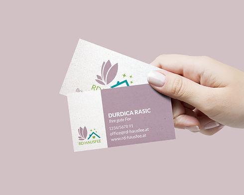 Business card Design Hausfee Hausbetreuung Reinigung