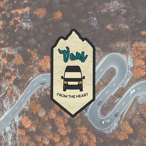 Logo Design Van Vanlife Buslife Camping Camper Abenteuer farbig