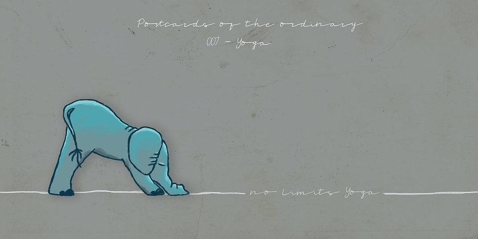yoga elefant illustration tierillustration öl postkarte