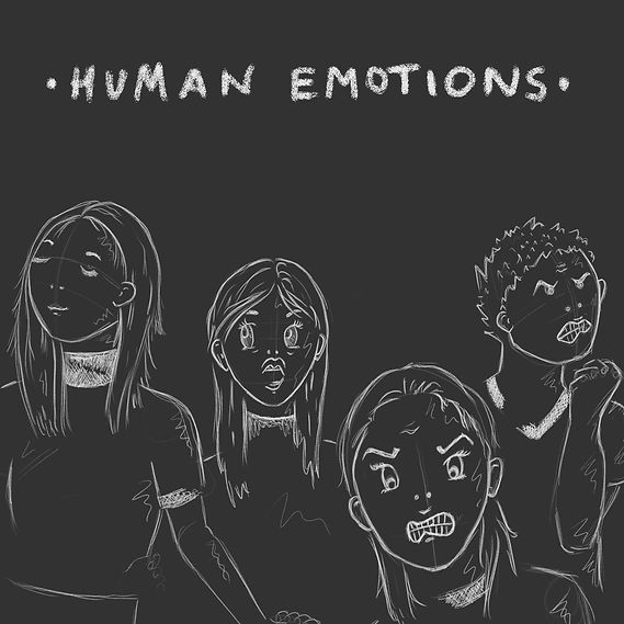 Illustration faces human emotions emotion angry satisfied frightened