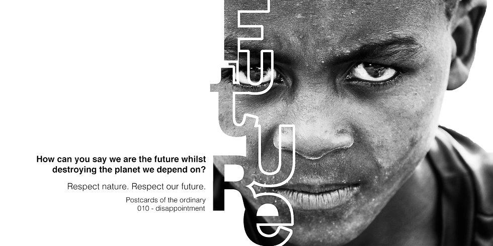 postkarte zukunft future planet kind enttäuscht traurig wütend klimaerwärmung klimaschutz