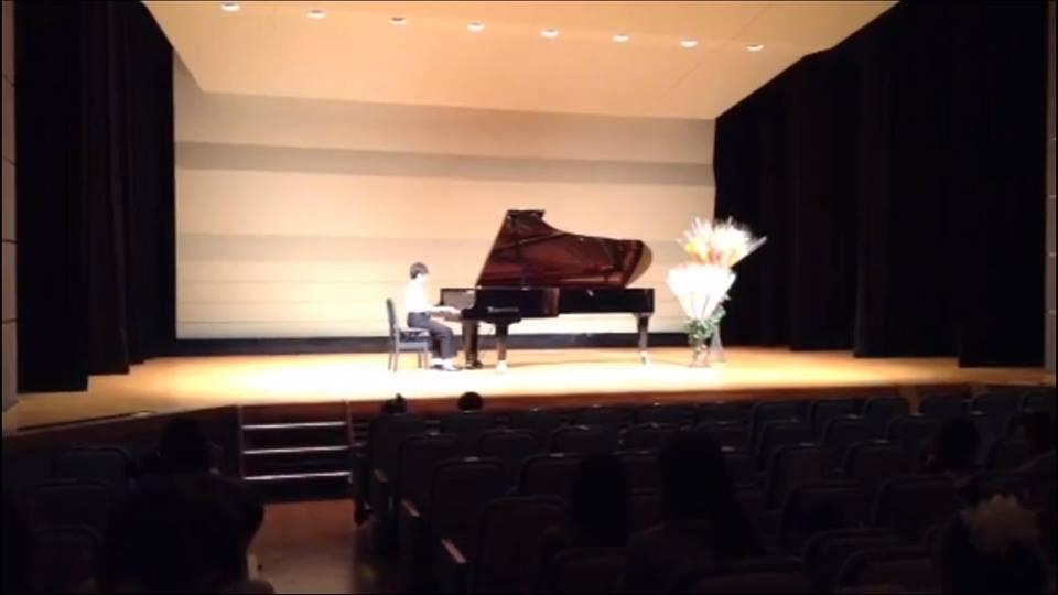 末っ子のピアノの発表会